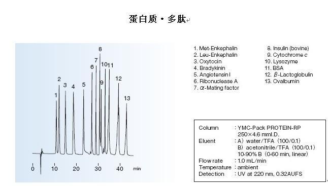 YMC-Pack PROTEIN-RP色谱柱蛋白质多肽应用
