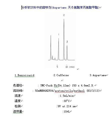 YMC-Pack Ph甜味剂分析